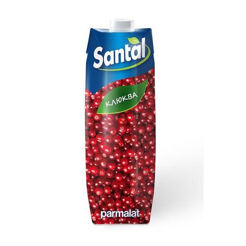 Напиток сокосодержащий Santal клюква 1 л. т/пак шт.