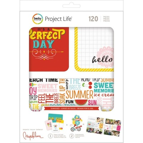 Kit набор карточек и украшений для Project Life -Sunkissed -120шт