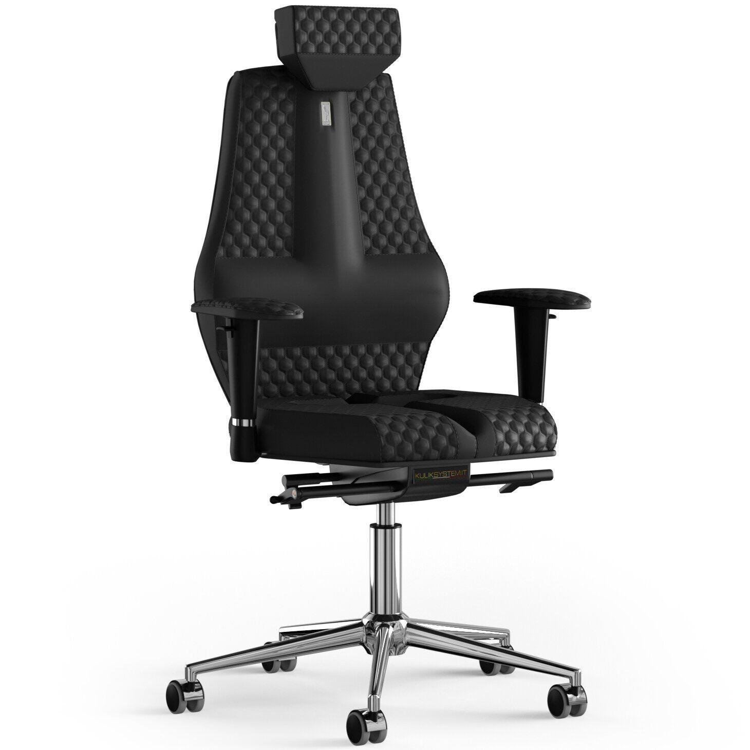 Кресло KULIK SYSTEM NANO Экокожа с подголовником со строчкой