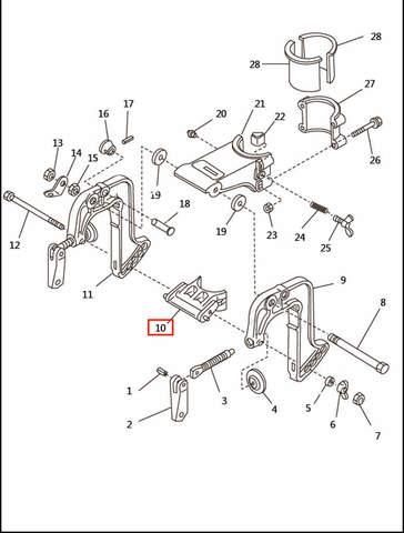 Кронштейн  для лодочного мотора T2,5 SEA-PRO (6-10)
