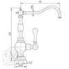 Кран  для питьевой воды Migliore Baron ML.BRN-2008  схема