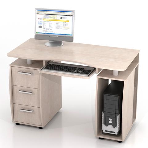Компьютерный стол ДРОФА КС-12М беленый дуб