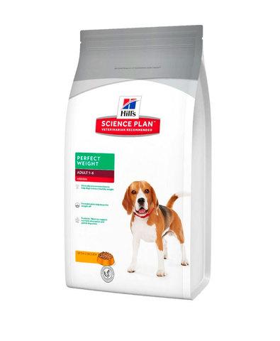 Hill's сухой корм для собак идеальный вес 2кг