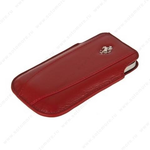 Чехол-пенал кармашек Ferrari для iPhone 4s/ 4/ iPhone 3Gs/ 3G кармашек красный