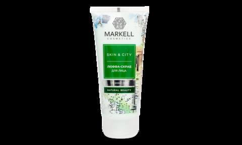Markell Skin&City Люффа-скраб для лица Снежный гриб 100мл