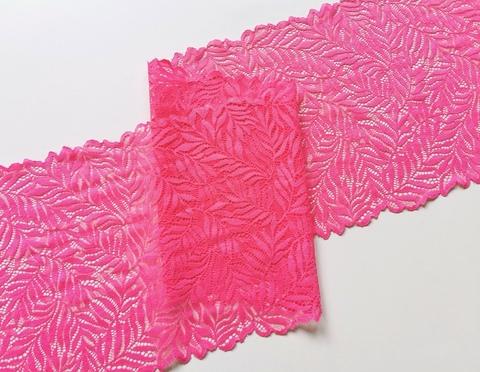 Эластичное кружево, ОПТ 22 см, розовое, м