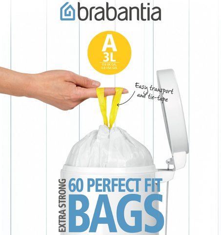 Пакет пластиковый 3л 60шт, артикул 348983, производитель - Brabantia