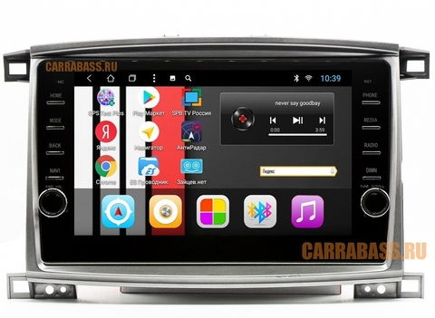 Магнитола CarraBass CB-1065T3 Toyota Land Cruiser 100 2003-2007 Android 7.1
