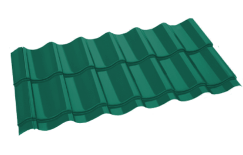 Металлочерепица Арарат Полиэстер RAL 5021 Морская волна 0,45 мм