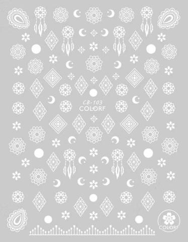 Наклейка силиконовая CB-103 WHITE