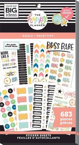 Блокнот со стикерами для ежедневника Create 365 Happy Planner Sticker Value Pack-BIG GOALS - 736 шт
