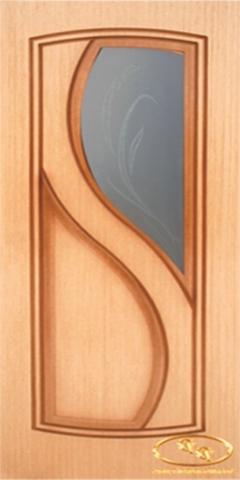 Дверь Леди2 ДО (дуб, остекленная шпонированная), фабрика Румакс