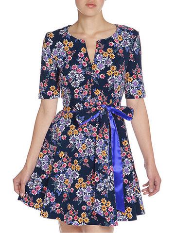 WD2457F-3 платье женское, темно-синее