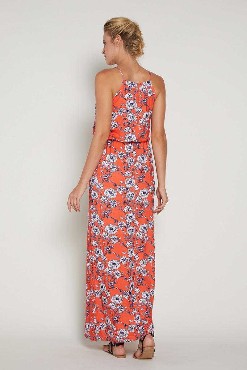 Фото платье для беременных GEBE, сарафан макси от магазина СкороМама, цветочный принт, размеры.