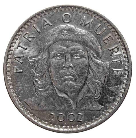 3 Песо 2002 г. КУБА. Че Гевара. XF-AU
