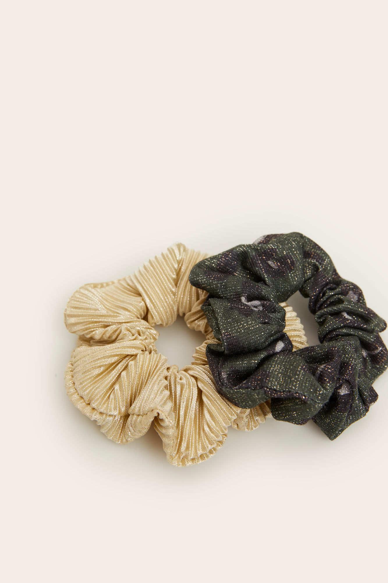 Набор из 2 резинок для волос из текстиля
