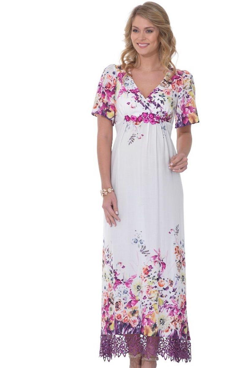 Платье для беременных 05547 белый