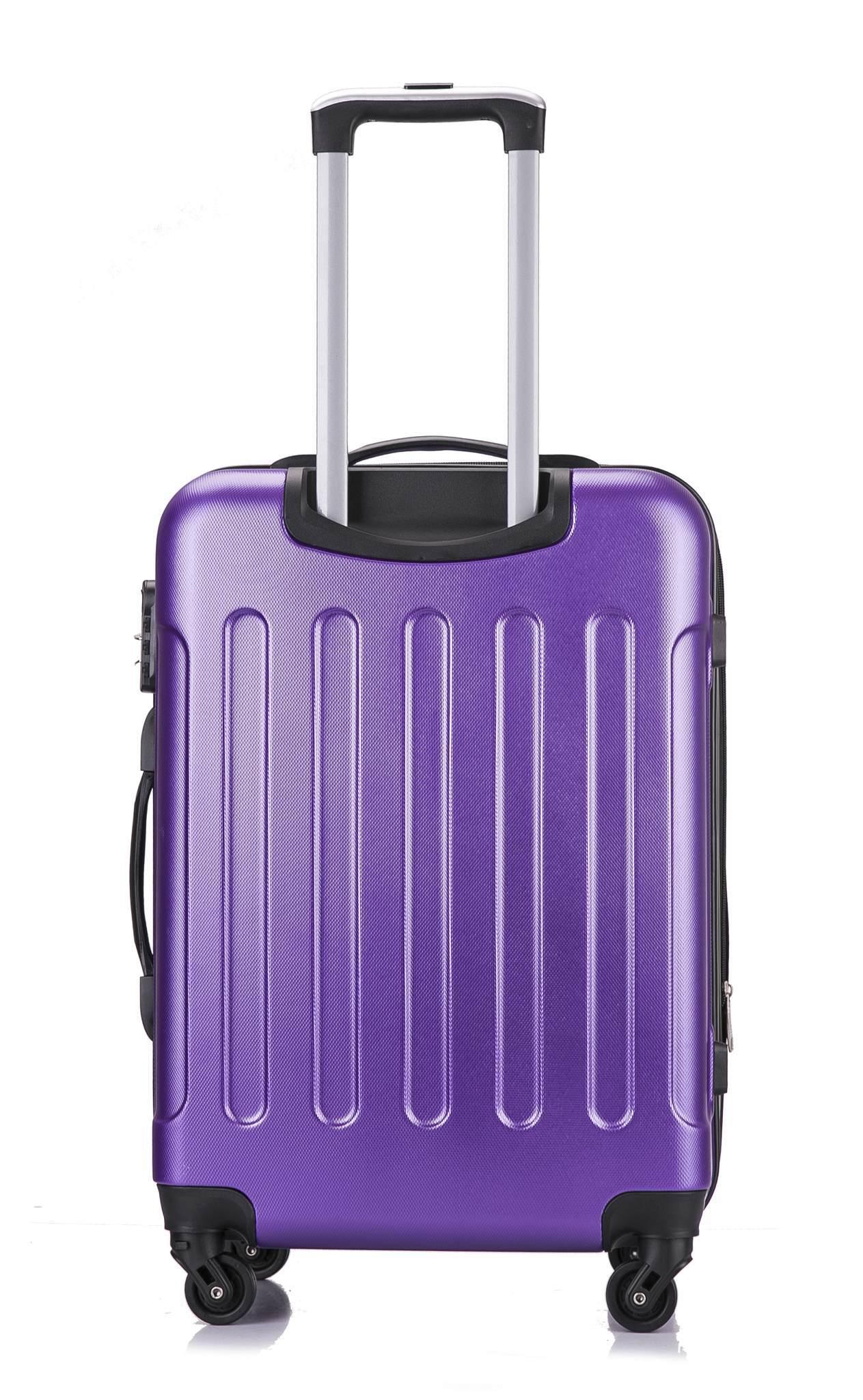 Чемодан с расширением L'case Bangkok-22 Фиолетовый (M)