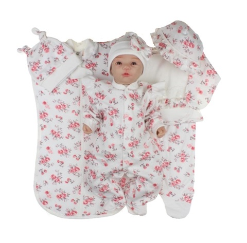 Набор одежды для новорожденной девочки в роддом Розы