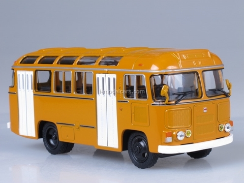 PAZ-672M urban yellow Soviet Bus 1:43