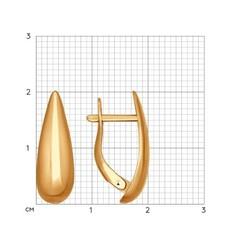 027121- Серьги из золота в форме капель без вставок