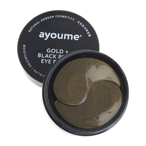 Патчи для глаз от темных кругов с золотом и черным жемчугом AYOUME GOLD BLACK PEARL EYE PATCH 60 шт