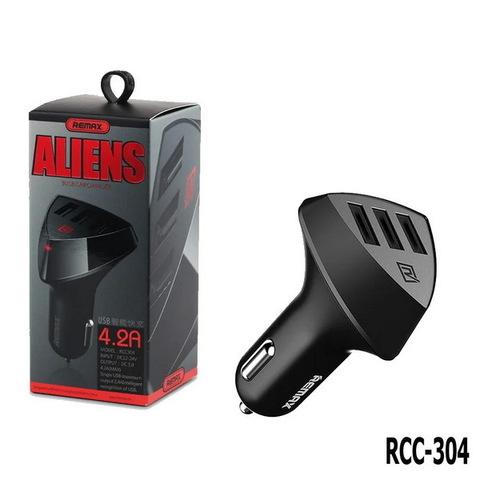 АЗУ Remax RCC-304 Alien, (3xUSB, 4.2A) black