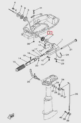 Втулка резиновая для лодочного мотора T5 Sea-PRO (9-2)