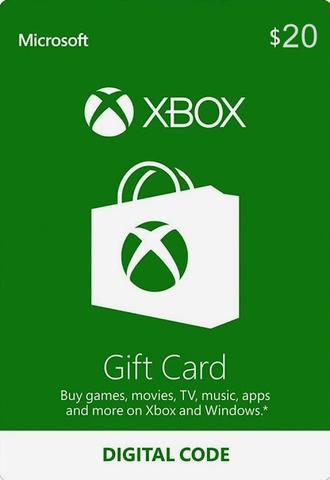 Xbox Store USA: Пополнение бумажника на 20$ (цифровая версия)