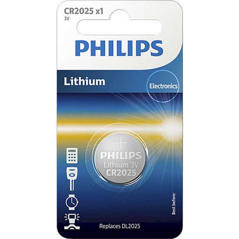 Батарейки литиевые Philips CR 2025/1bl