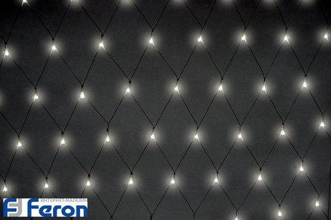 Гирлянда светодиодная «Сеть белая», CL200 (Feron)