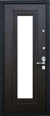 Дверь входная L-1 стальная, Венге, 2 замка, фабрика Арсенал