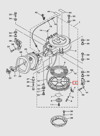 Заводной барабан для лодочного мотора T40 Sea-PRO (7-3)