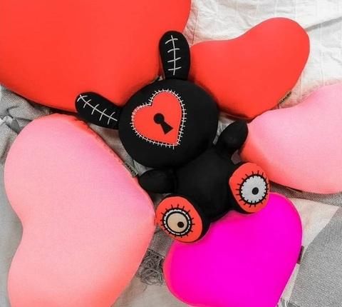 Подушка-игрушка антистресс «Большое красное сердце» 5