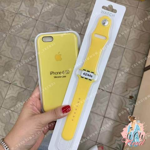 Чехол iPhone 6/6s Silicone Case /yellow/ желтый 1:1