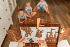 театр теней ПРЕМИУМ + набор фигурок ПРИНЦЕССА И ДРАКОН в подарочной коробке