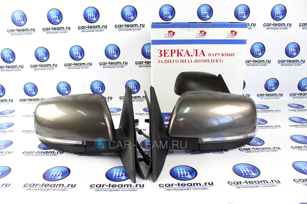 Боковые зеркала на Лада Приора 2, Приора 1, ВАЗ 2110-12 (поворотники, электропривод, обогрев) АТП, аналог