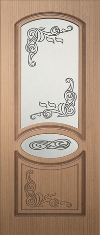 Дверь Каролина-1 ДО (дуб, остекленная шпонированная), фабрика Румакс