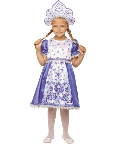 Карнавальный костюм детский Снегурочка Зимние узоры