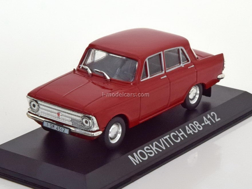 1:43 Moskvitch-408 left-hand drive car Moskvitch-412 Salon Red