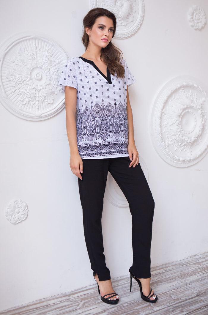 Пижамы женские Комплект  женский с брюками  MIA-MIA  Leona ЛЕОНА 16216 белый 16216_white_big.jpg