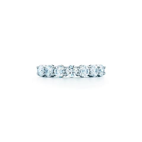 70449- Кольцо-дорожка lux из серебра с круглыми цирконами