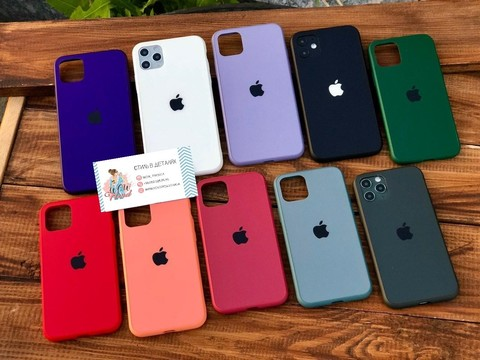 Чехол iPhone 11 Pro Max Glass Pastel Matte silicone /peach/