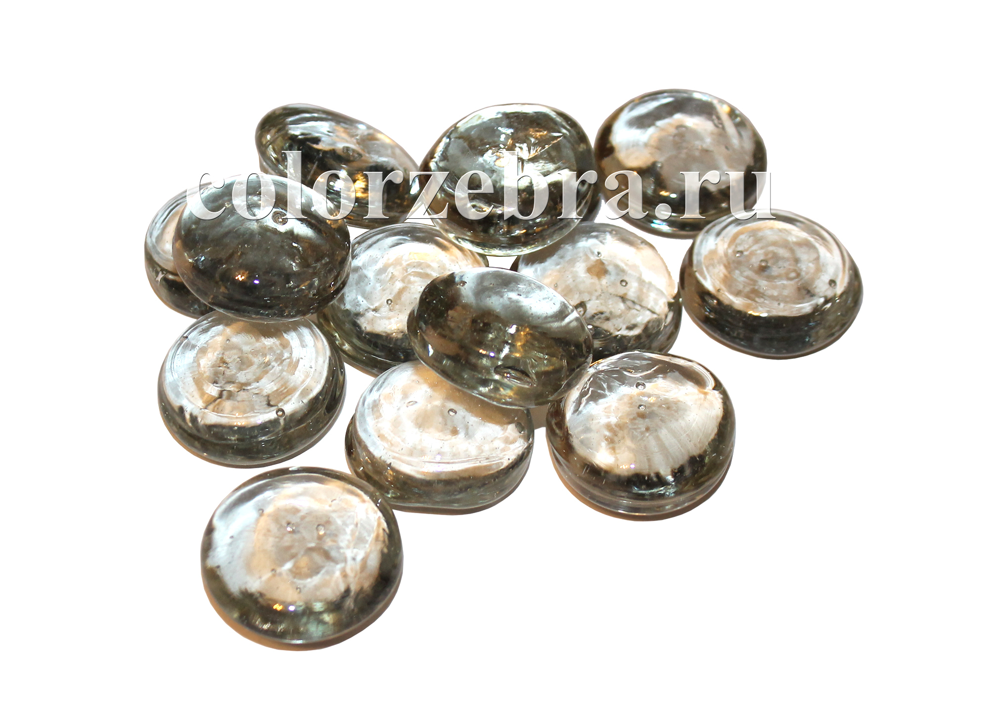 Стеклянные капли эльвинги прозрачные 3,5 см