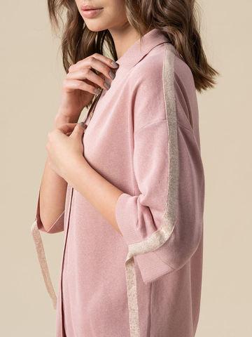 Женский джемпер светло-розового цвета из вискозы - фото 4