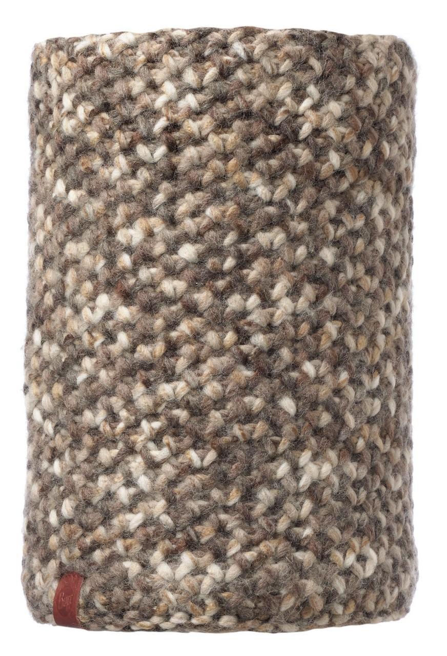 Вязаные шарфы Вязаный шарф-труба с флисовой подкладкой Buff Margo Brown Taupe 113552.316.10.00.jpg