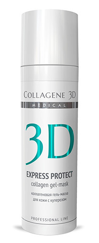 Коллагеновая гель-маска-эксперт EXPRESS PROTECT для кожи с куперозом, Medical Collagene 3D