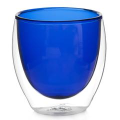 Стакан с двойными стенками цветной 250 мл, синий
