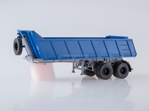 Semi Trailer Tipper MAZ-9506-20 blue AutoHistory 1:43
