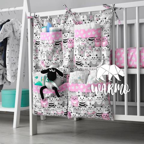 органайзер на ліжечко з рожевими котиками фото